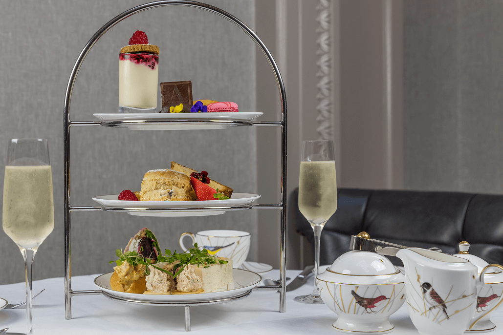 prosecco afternoon tea at atrium lounge