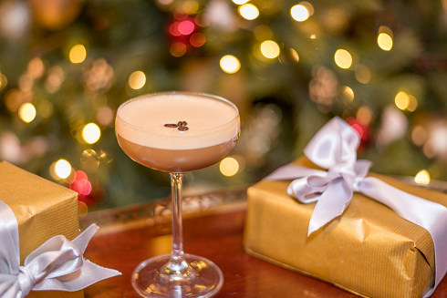 festive coffee cocktail at the atrium lounge
