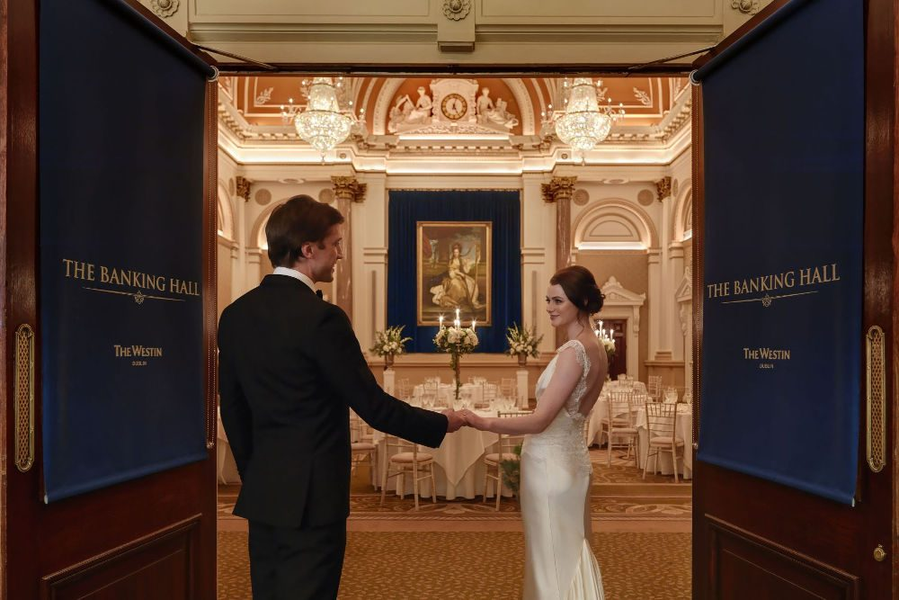 Wedding Couple-at-The-Banking-Hall