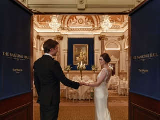Wedding Couple at the Banking Hall Dublin