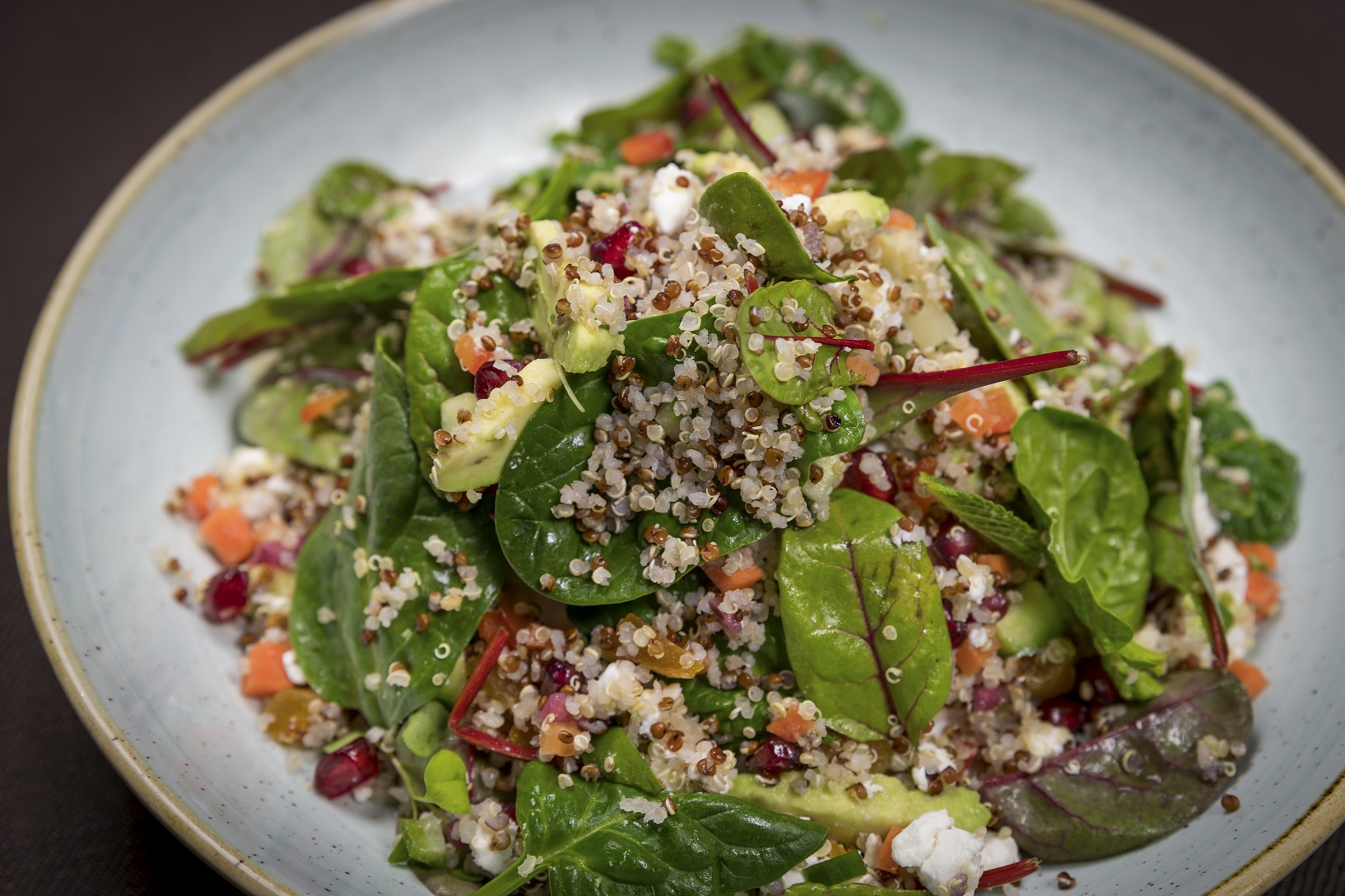 Lunch at the Westin Fruity Quinoa Salad