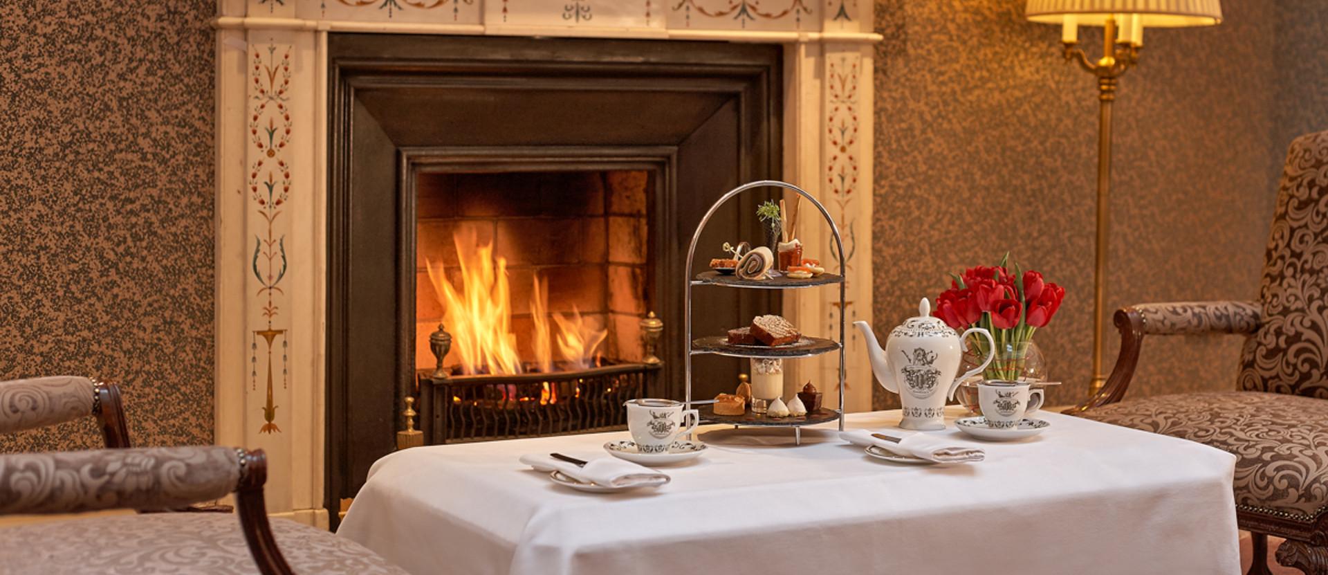 The Atrium Lounge Fireplace - Afternoon Tea