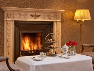 The Atrium Lounge Fireplace – Afternoon Tea Dublin