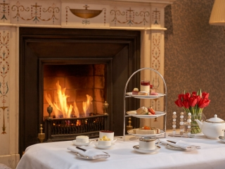 The Atrium Lounge Fireplace – Afternoon Tea Setting Dublin