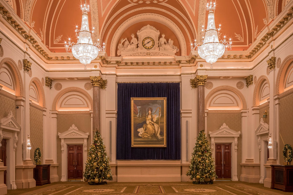 The Banking Hall- Christmas trees