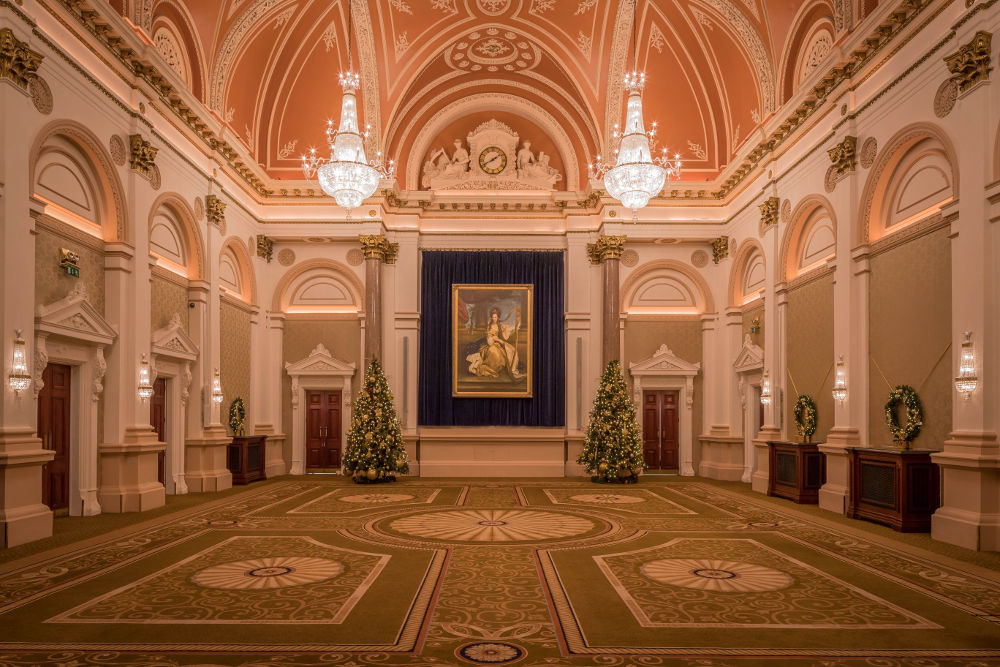 The Banking Hall at Christmas