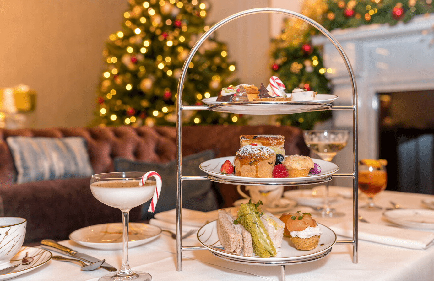 festive afternoon tea with festive cocktails at the atrium lounge