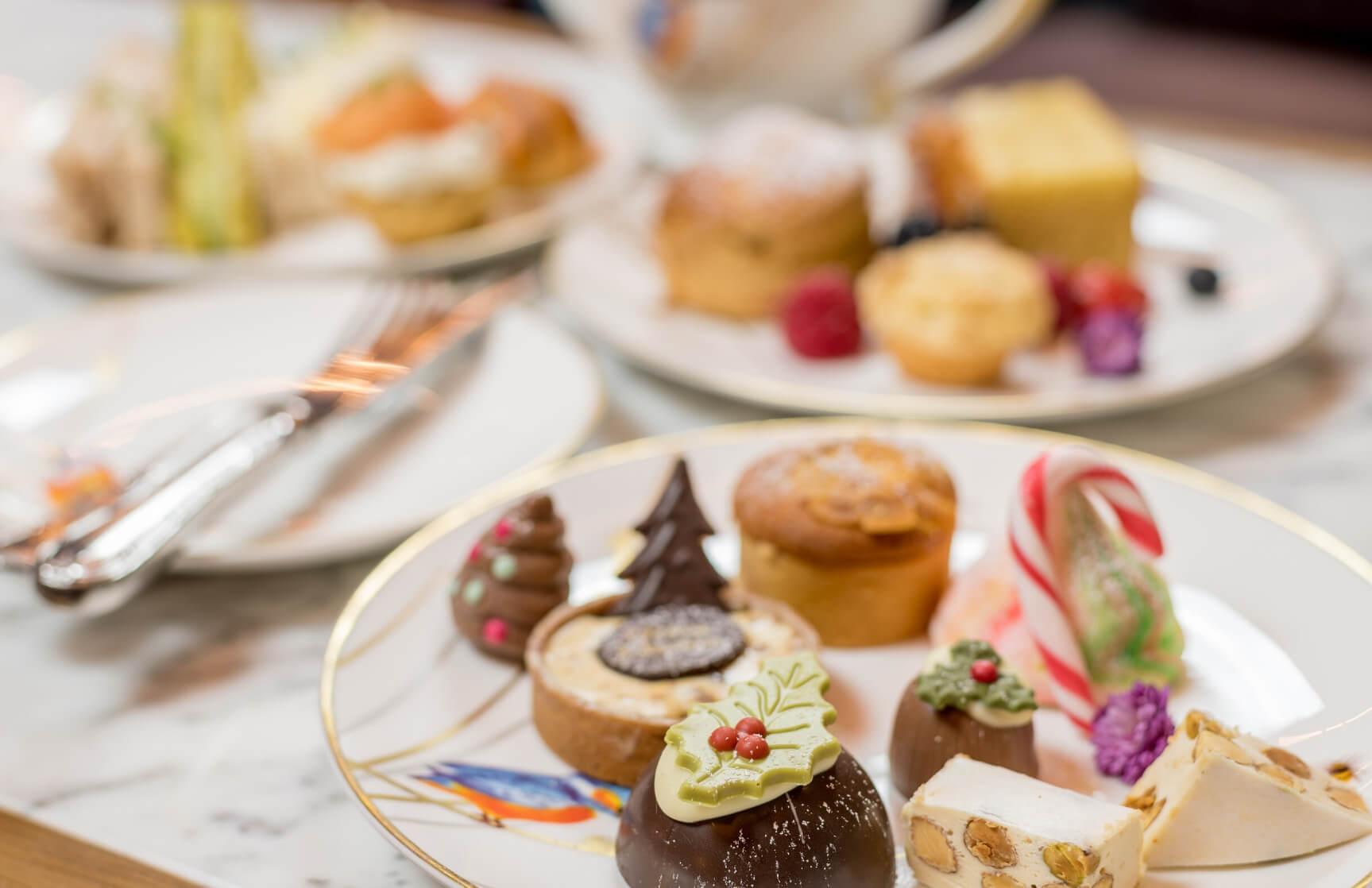 festive afternoon tea desserts at the atrium lounge