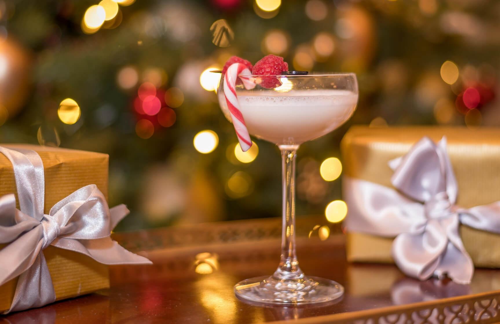 festive cocktail at the atrium lounge