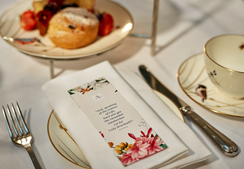 Atrium Lounge afternoon tea bookmark