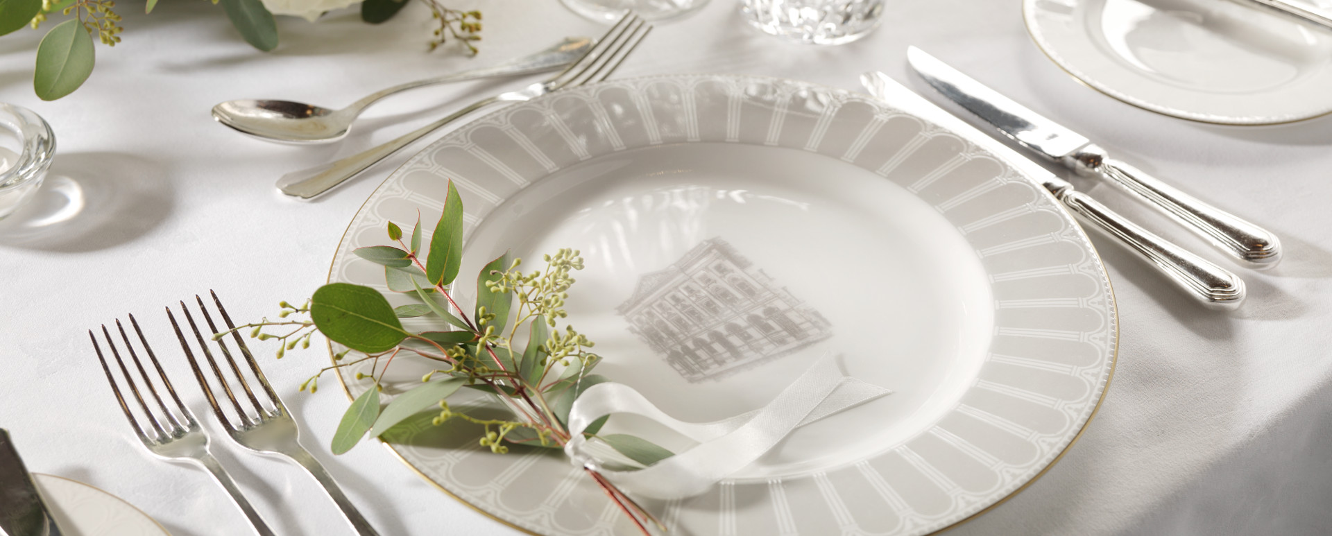 Banking Hall Wedding Place Setting
