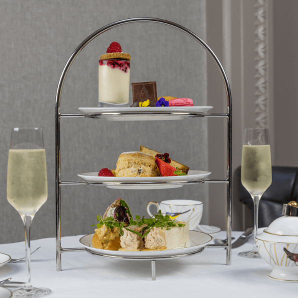 afternoon tea with prosecco at the atrium lounge