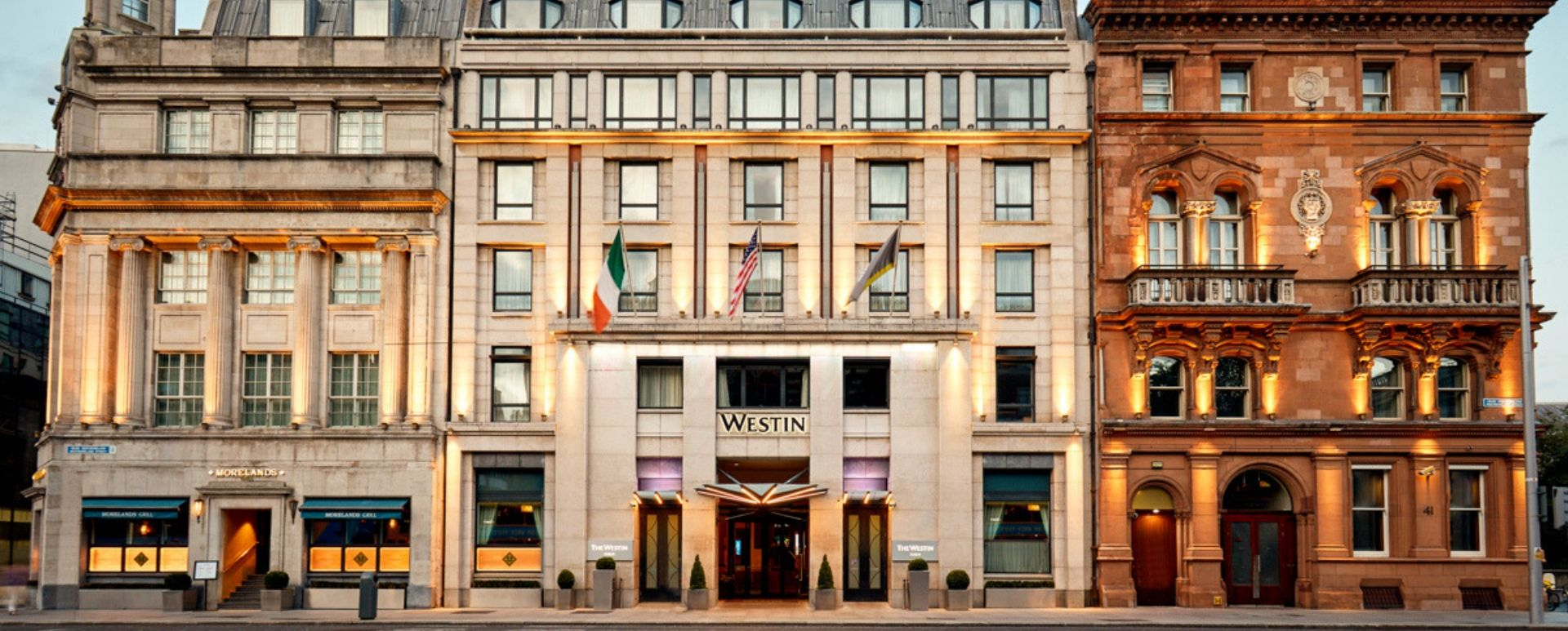 facade of the westin dublin facing westmoreland street