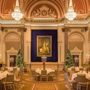 festive banking hall