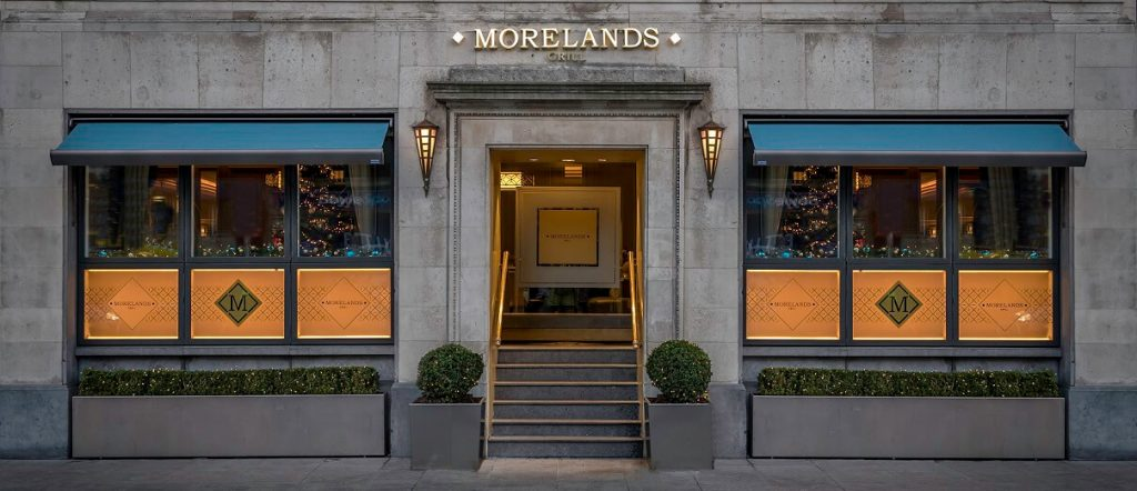 Morelands Grill festive Entrance