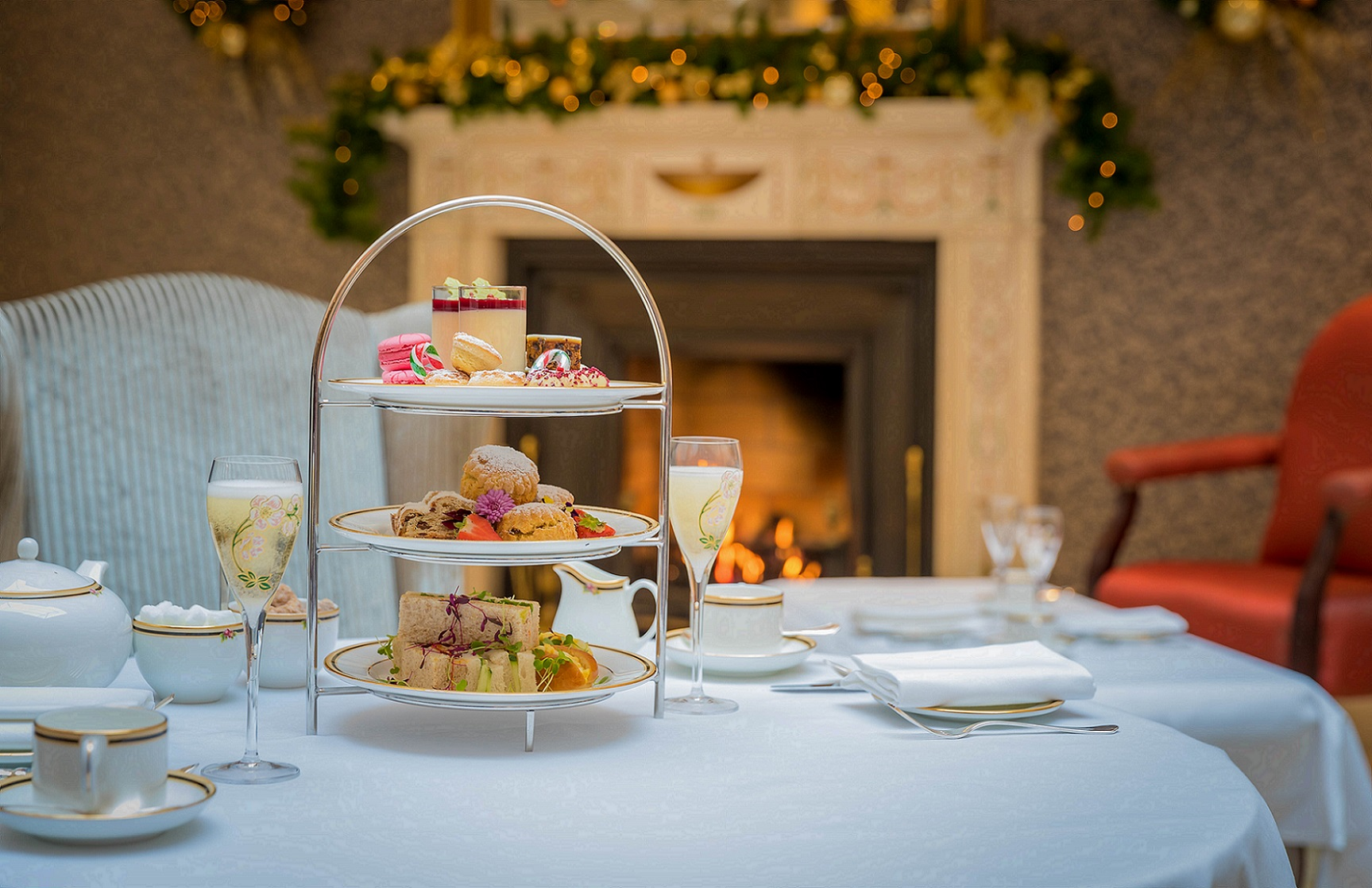 Festive Afternoon Tea with champagne at atrium lounge