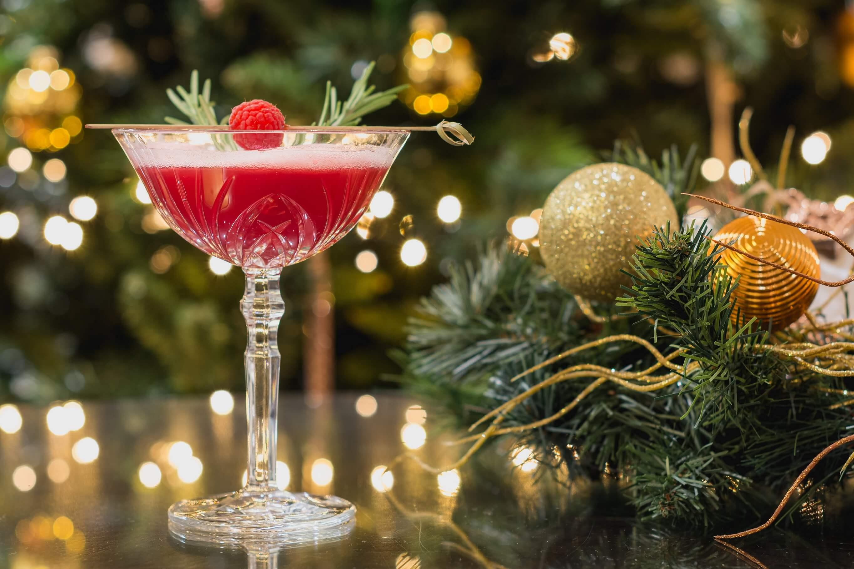 Red-Nosed Reindeer festive cocktail at mint bar