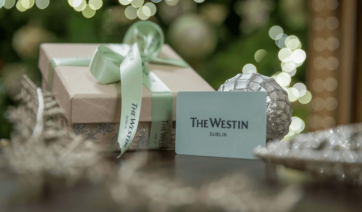 Westin Dublin Christmas gift card