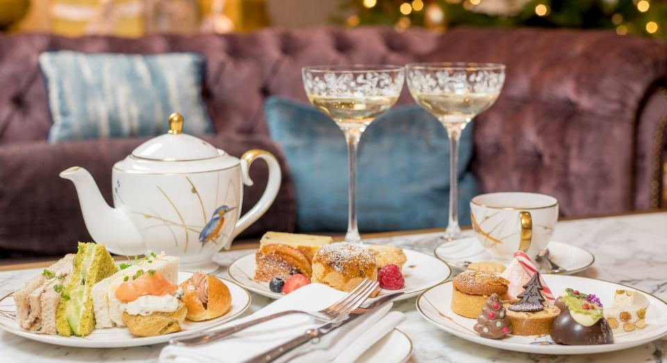 festive champagne afternoon tea at the atrium lounge