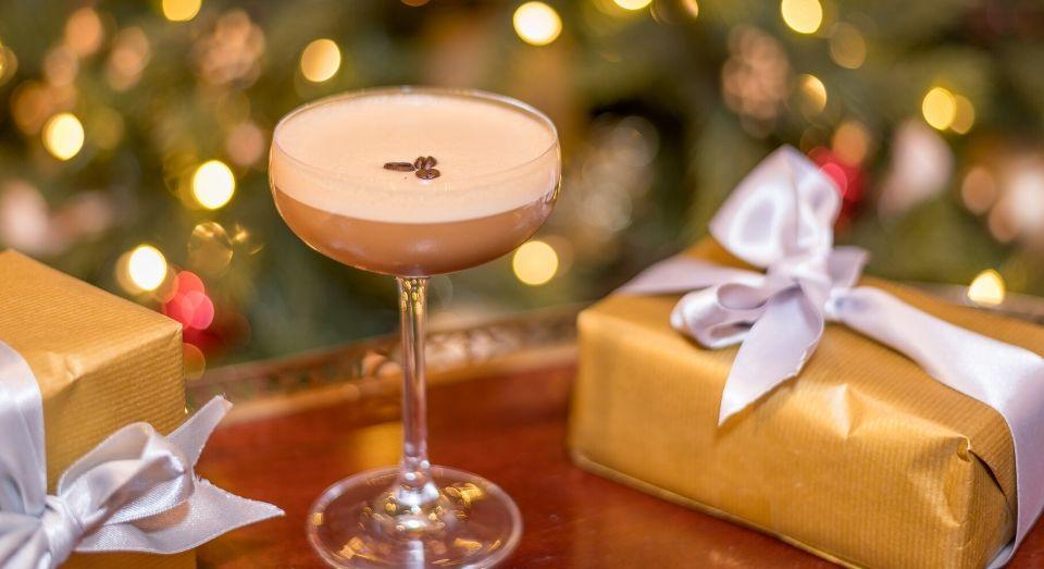 festive cocktail at the mint bar dublin