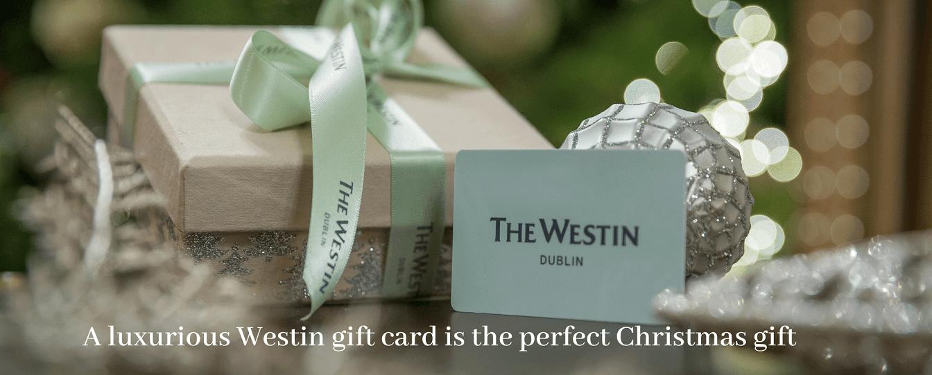 Westin Dublin luxury festive gift card