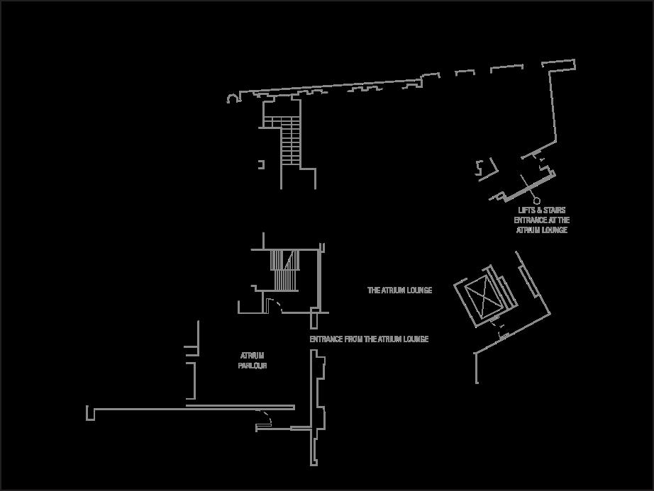 Mezzanine Level Plan of meeting rooms at westin dublin