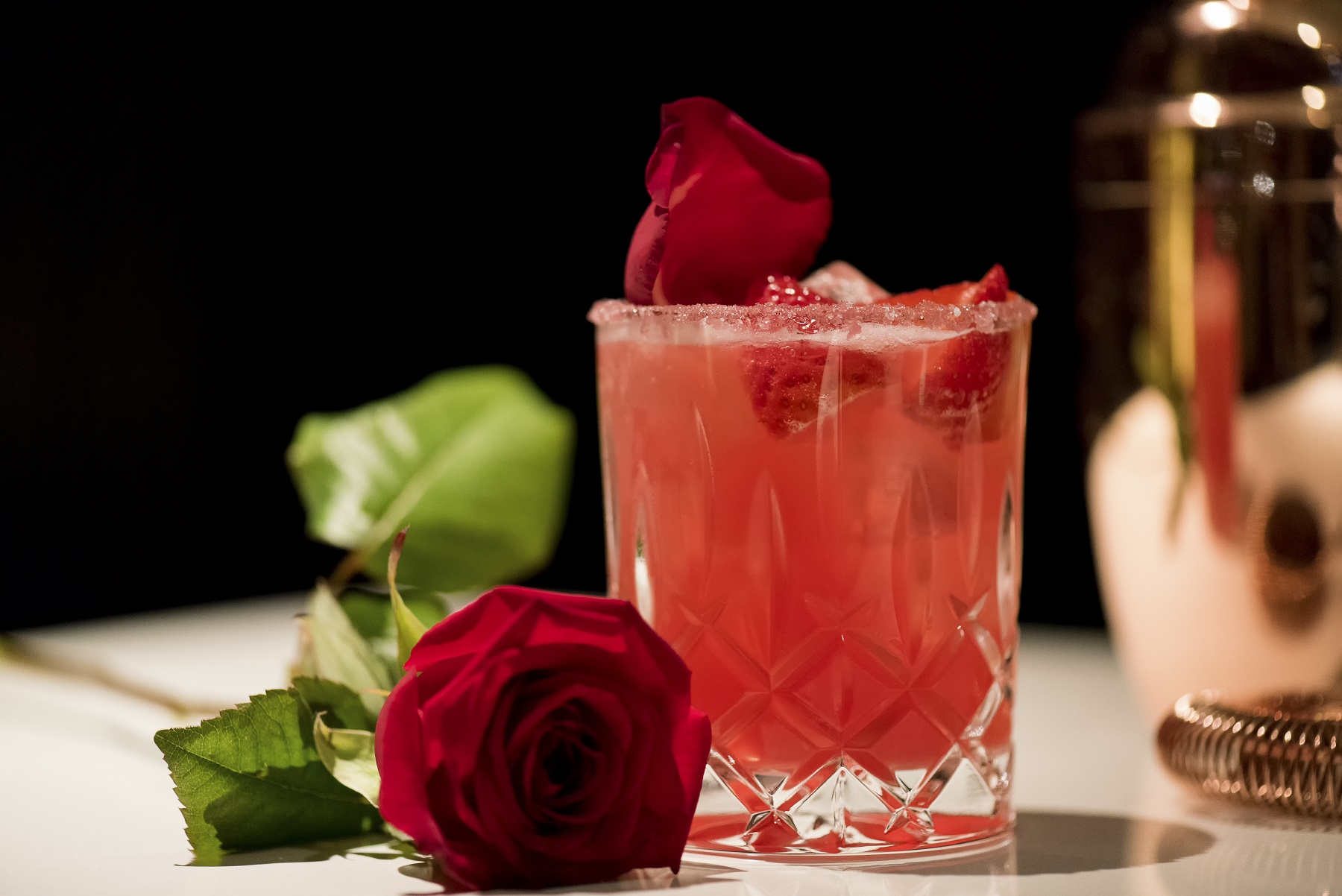 Valentine's day cocktail at the mint bar dublin