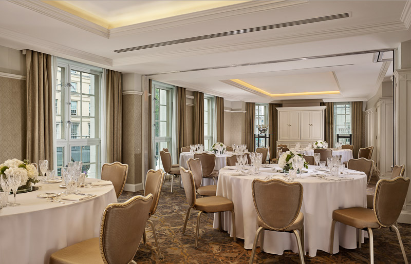 Guinea & Florin Rooms set up for banqueting cabaret style at the Westin Dublin