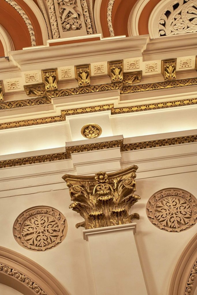 ceiling detail of banking hall dublin