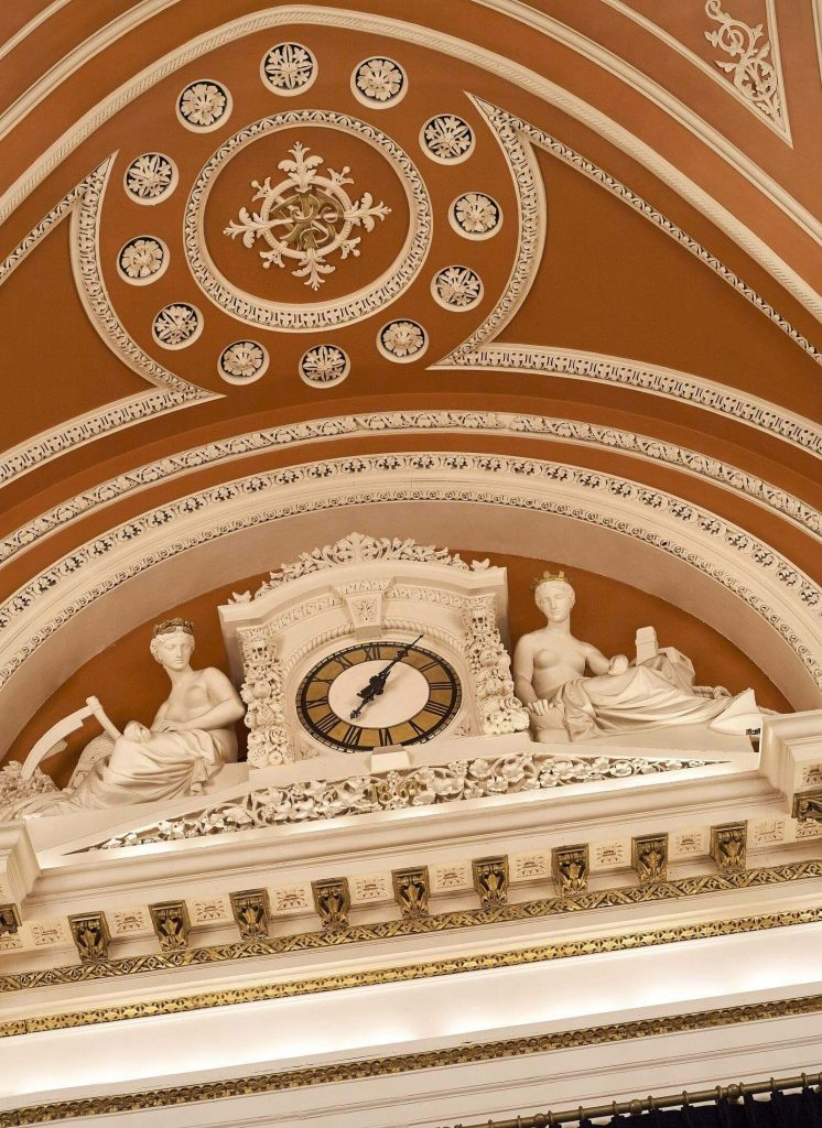 clock feature of banking hall dublin