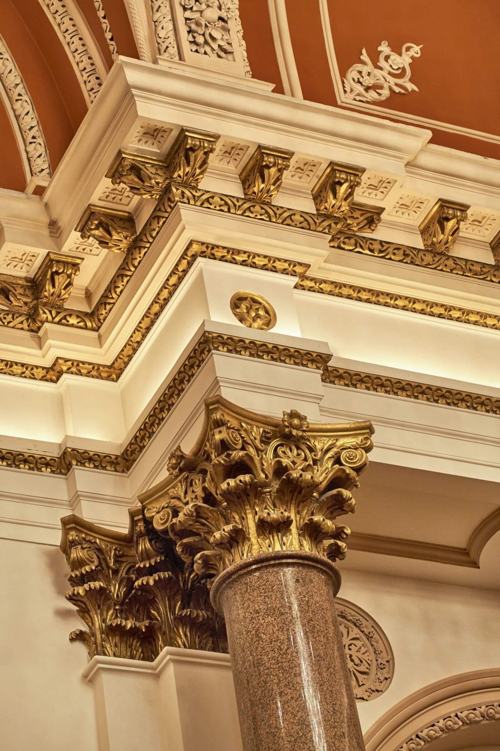 marble pillar feature of banking hall dublin