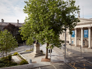 view from the westin dublin to college green