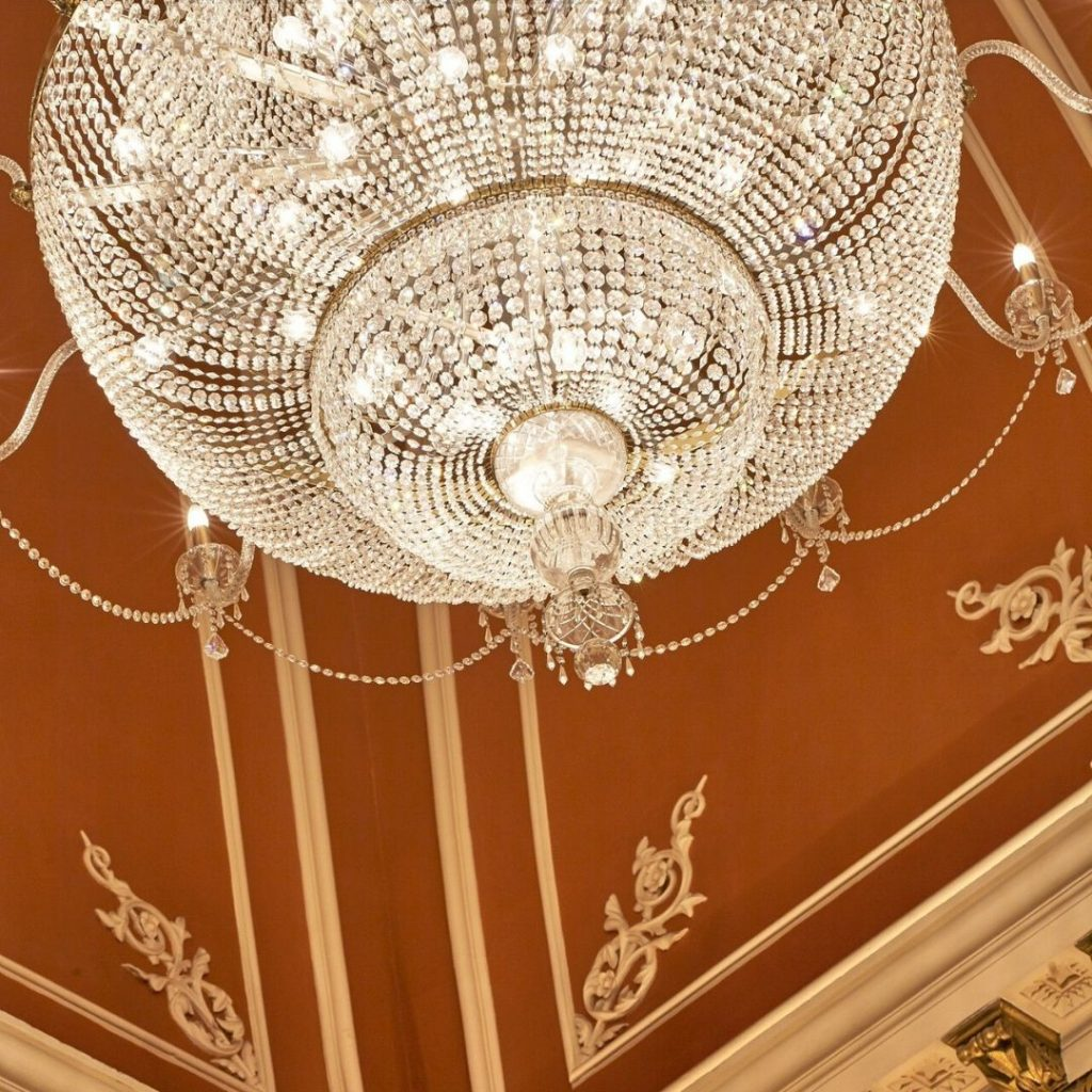Banking Hall chandelier detail