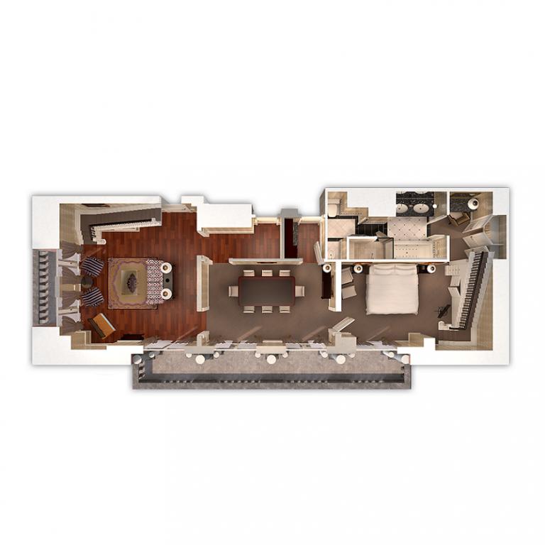 college suite first floor plan