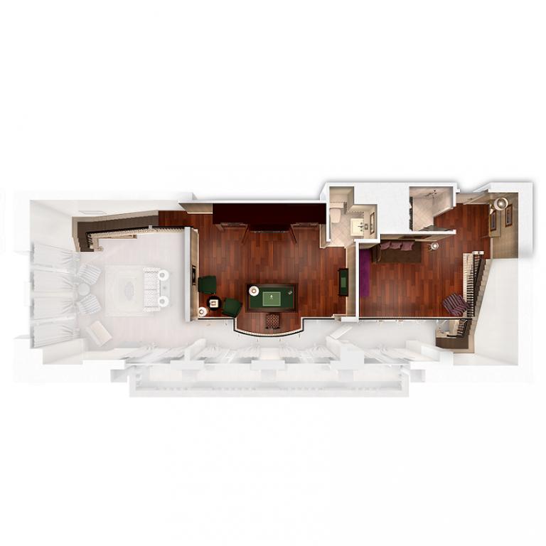 college suite second floor plan