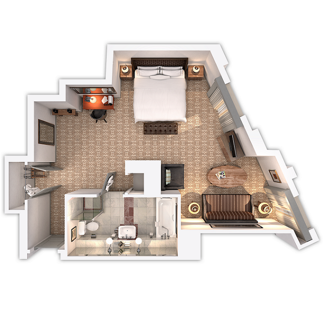 family suite floor plan