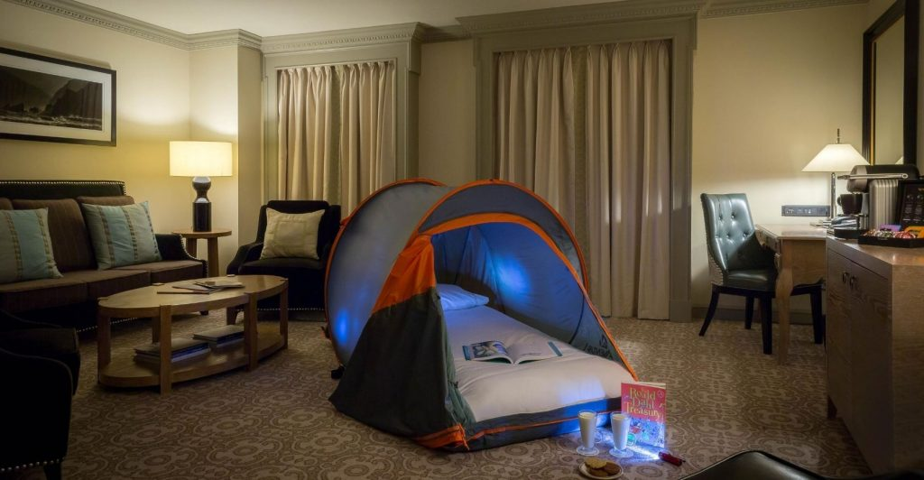 family suite with tent